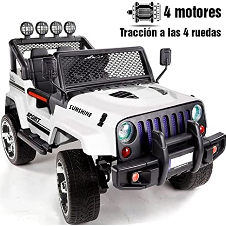 BC BABY COCHES Babycoches Jeep Raptor, 12 V, traccion 4x4, monoplaza, asiento