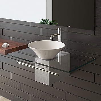Waschtisch/Designer Waschtisch Serie 120 / Alpenberger/Badmöbel Aus  Glas/Waschplatzlösung / Keramikbecken