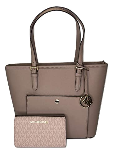 f43143284493 MICHAEL Michael Kors Jet Set MD TZ Snap Pocket Tote bundled with Michael  Kors Jet Set