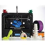 AA +inks 3D Drucker Plug und Play MK8 Dual Extruder LCD Bildschirm Hohe Präzision wooden Desktop 3D Drucker Kit 1,75 mm ABS/PLA Filament