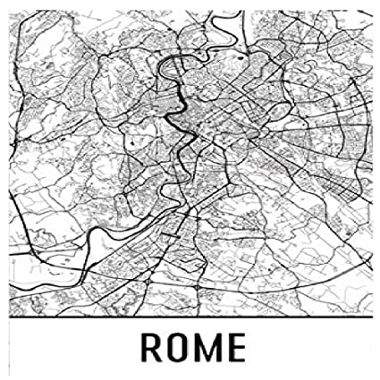 Amazon.com: Rome Poster, Rome Art Print, Rome Wall Art, Rome Map ...