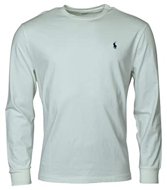 f0456bd8 Polo Ralph Lauren Mens Long Sleeve Crewneck Logo T-Shirt | Amazon.com