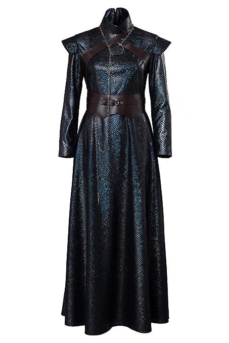 MingoTor Game of Thrones 8 Sansa Stark Disfraz Traje de Cosplay Ropa Mujer M