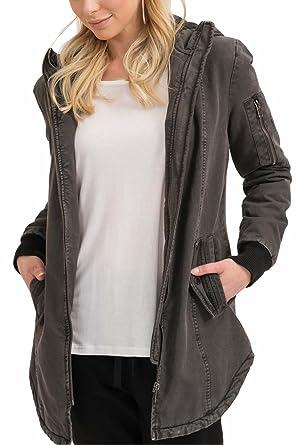trueprodigy Casual Mujer Marca Chaqueta Parka Militar Ropa Retro Vintage Rock Vestir Moda con Capucha Deportivo Slim fit Designer Cool Urban Fashion Jacket ...