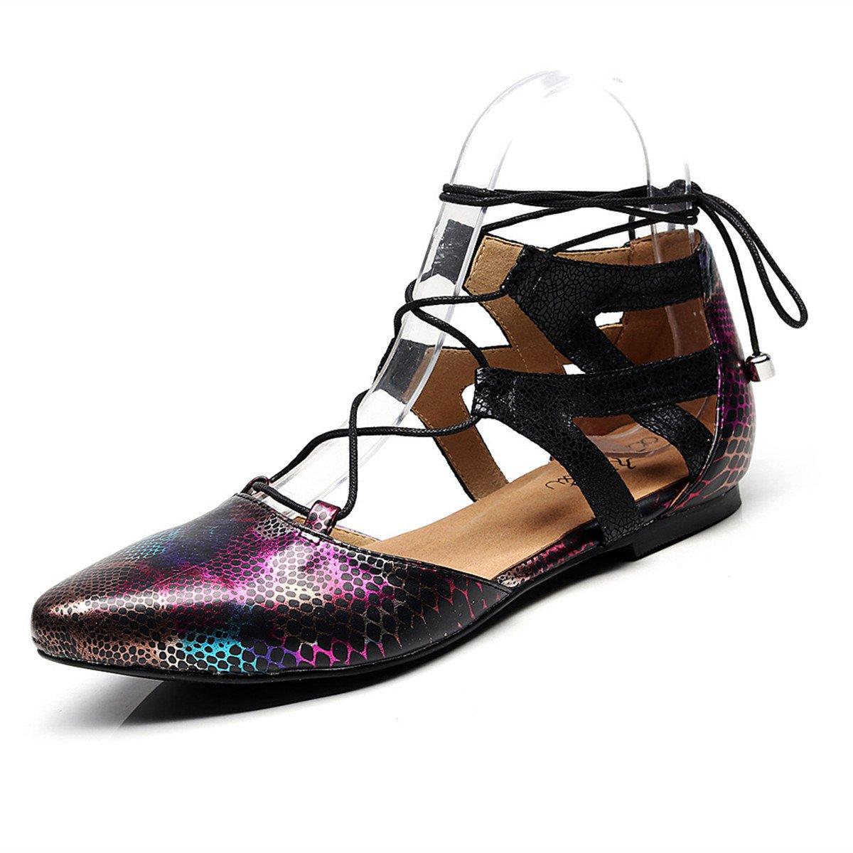 BYLE Riemchen Leder Sandalen Riemchen BYLE Samba Modern Jazz Tanzen Schuhe Flache Latin Tanzen Schuhe 952313