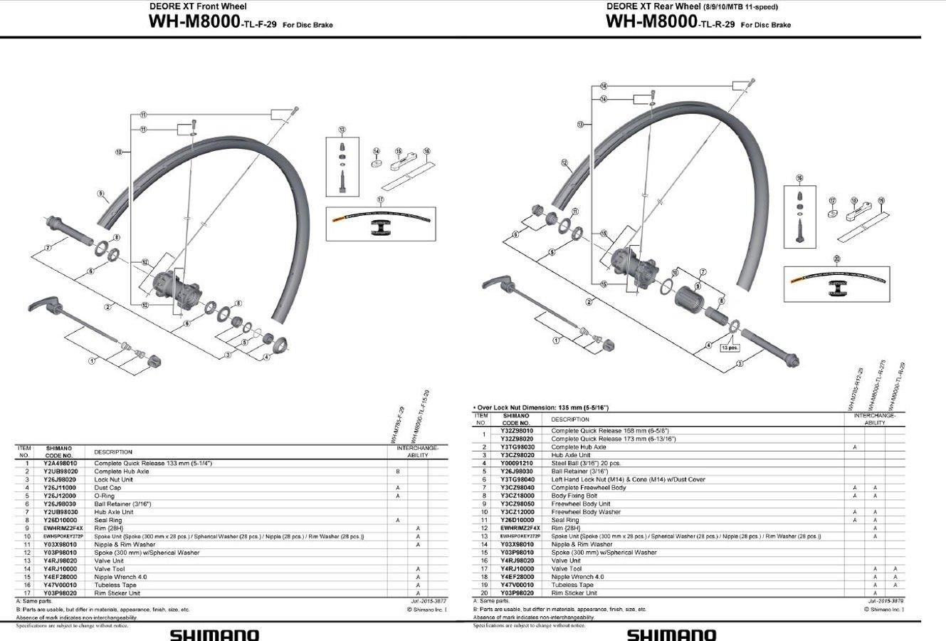 Shimano Deore XT WH-M8000-B - Ruedas para Bicicleta de montaña (29