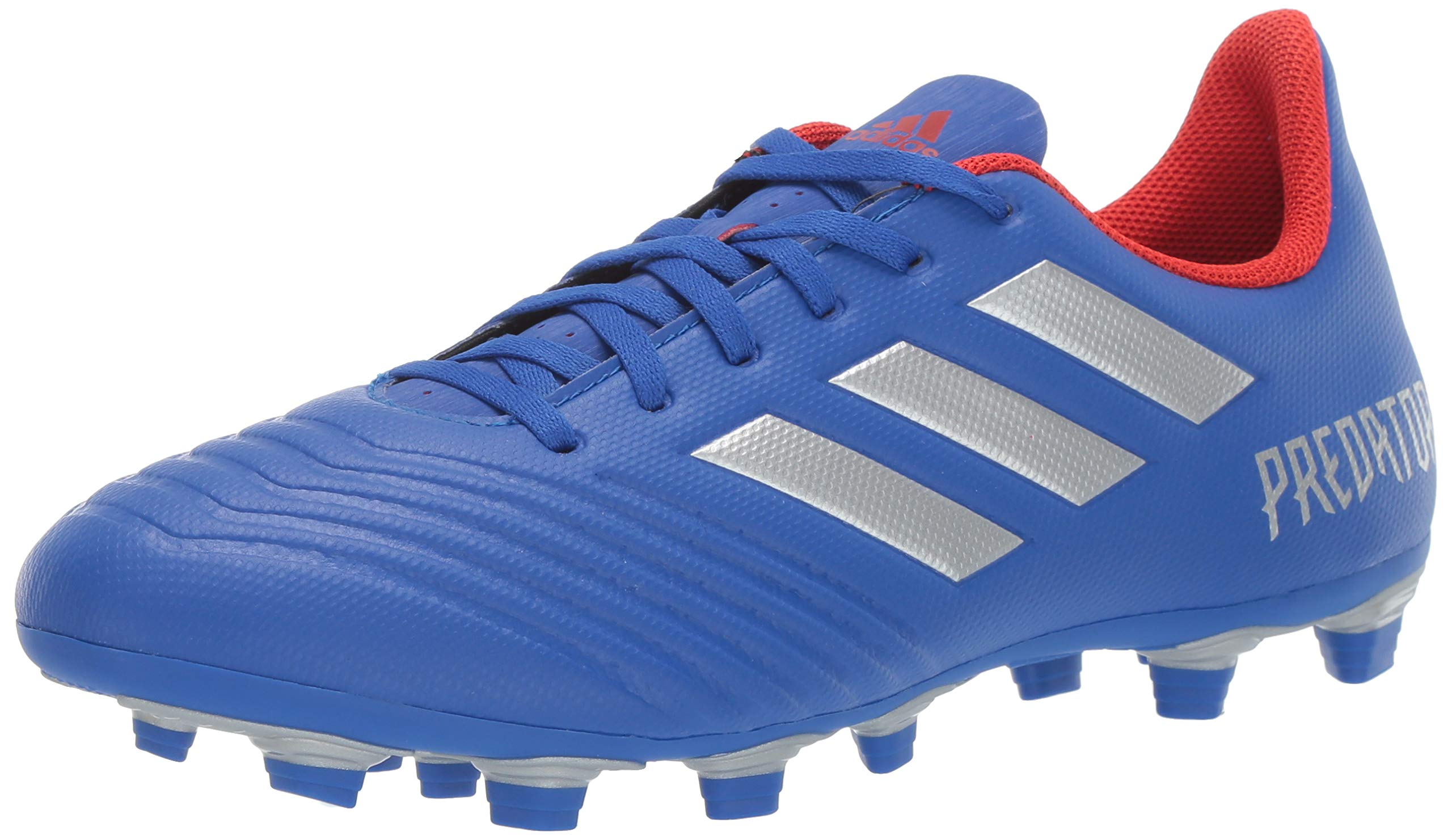 adidas Men's Predator 19.4 Firm Ground, Bold Blue/Silver Metallic/Active red, 11 M US by adidas
