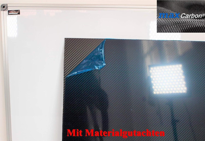 Carbon Platte CFK 1,1 mm dick; 130 mm x 360 mm beidseitig Schutzfolie E6