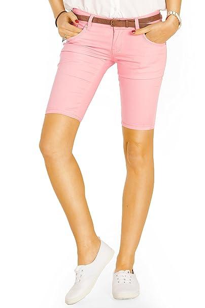 Bestyledberlin Damen Shorts Slim Fit Chino Hosen Kurze Damenhosen