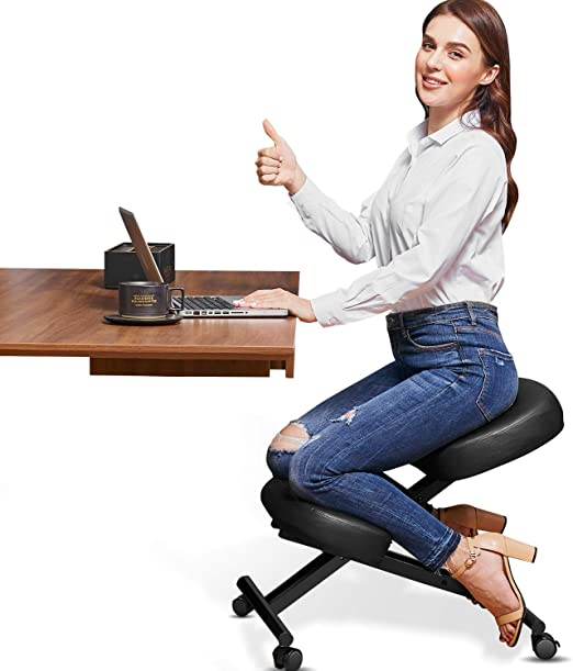 Himimi Ergonomic Kneeling Chair - Faux Leather-The Best Mid-Ranger