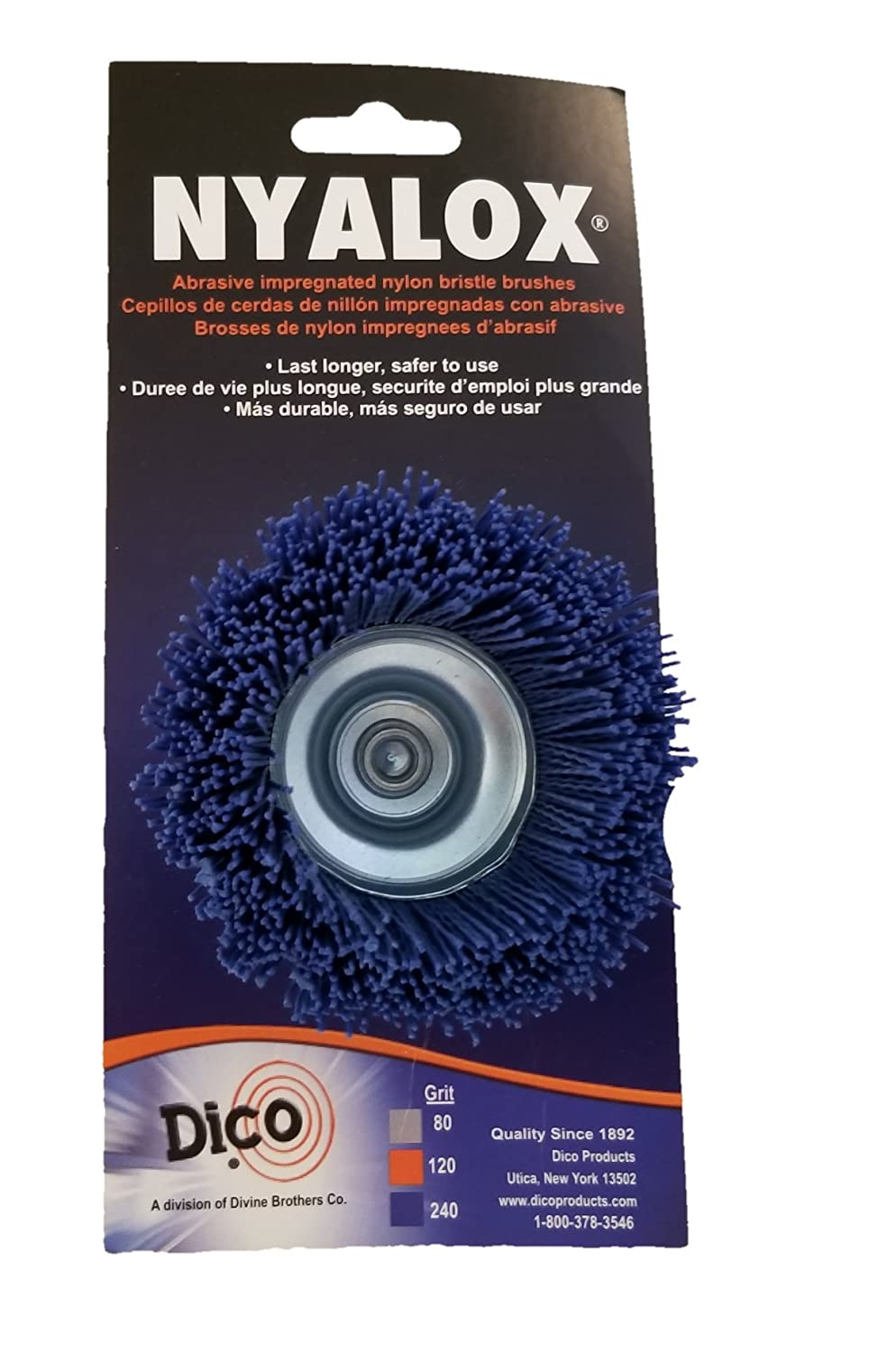Dico 541 786 21 2 Nyalox Cup Brush 21 2 Inch Blue 240 Grit