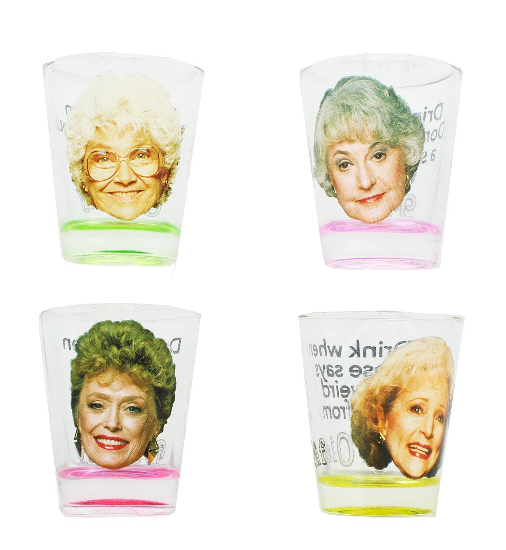 Golden Girls Shot Glasses, Set of 4 Perfect for the Golden Girls Drinking Game