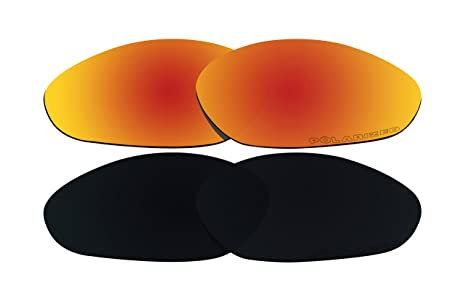 9a0f69af21 Image Unavailable. Image not available for. Color  2 Pairs Polarized Lenses  Replacement Red   Black for Oakley Minute 2.0 Sunglasses