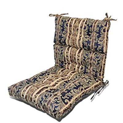 Magshion Outdoor/Indoor Pretty Wicker Seat/Back Chair Cushion Made in USA (Floral): Home & Kitchen