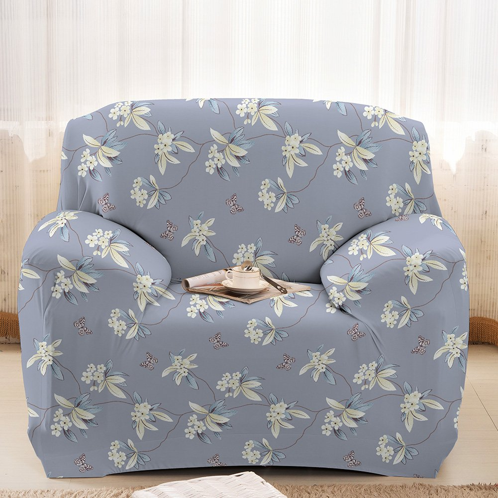 Printed Sofa Cover Anti Slip Stretch Fabric Soft Furniture Protector