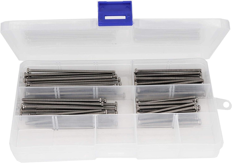 304 Stainless Steel 60pcs Pan Phillips Head M3 Screws Assortment Kit binifiMux M3 x 50mm// 60mm// 70mm// 80mm