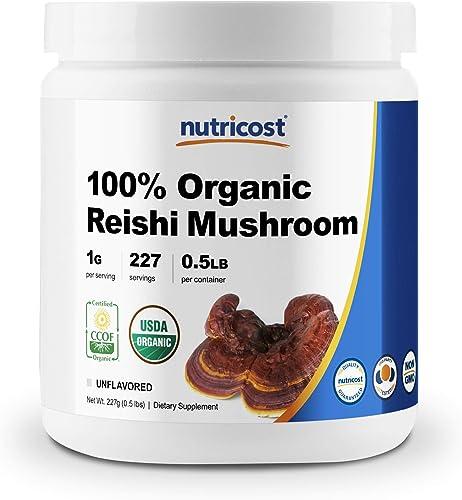 Nutricost Organic Reishi Mushroom 0.5LB 8oz Powder – USDA Certified 100 Organic, Vegan, Non-GMO, Gluten Free