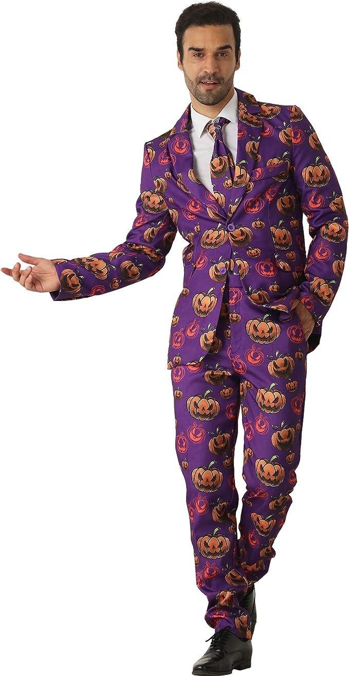 Amazon.com: EraSpooky Halloween Pumpkin Trajes para hombre ...