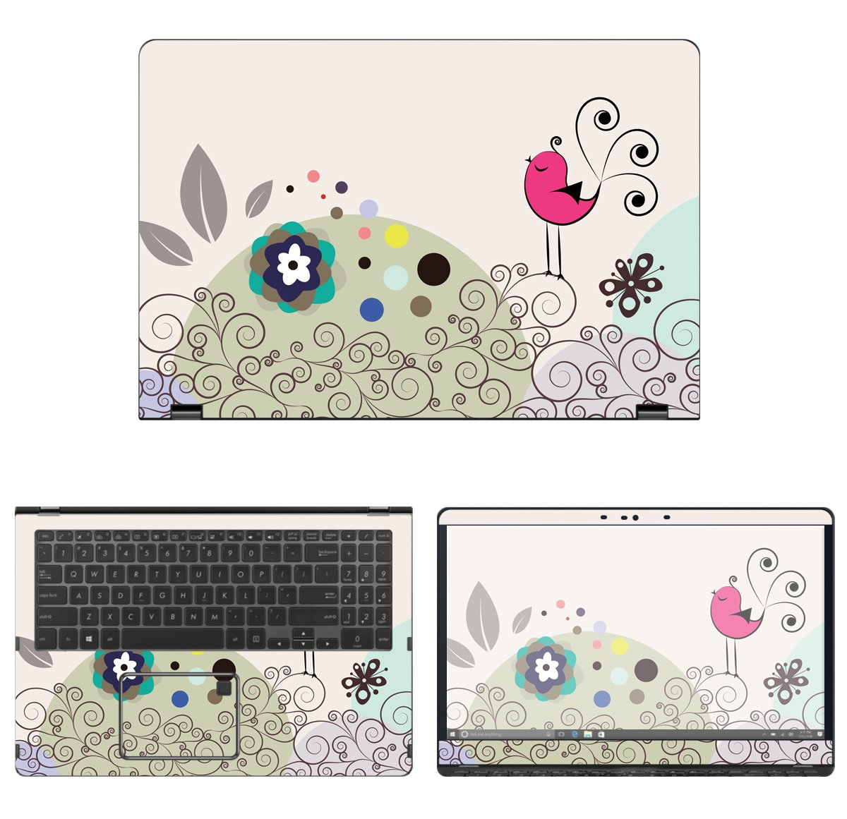 decalrus - Protective Decal Skin Sticker for Asus Q525UA 2-in-1 (15.6'' Screen) case Cover wrap ASq525UA_15-27 by decalrus (Image #1)