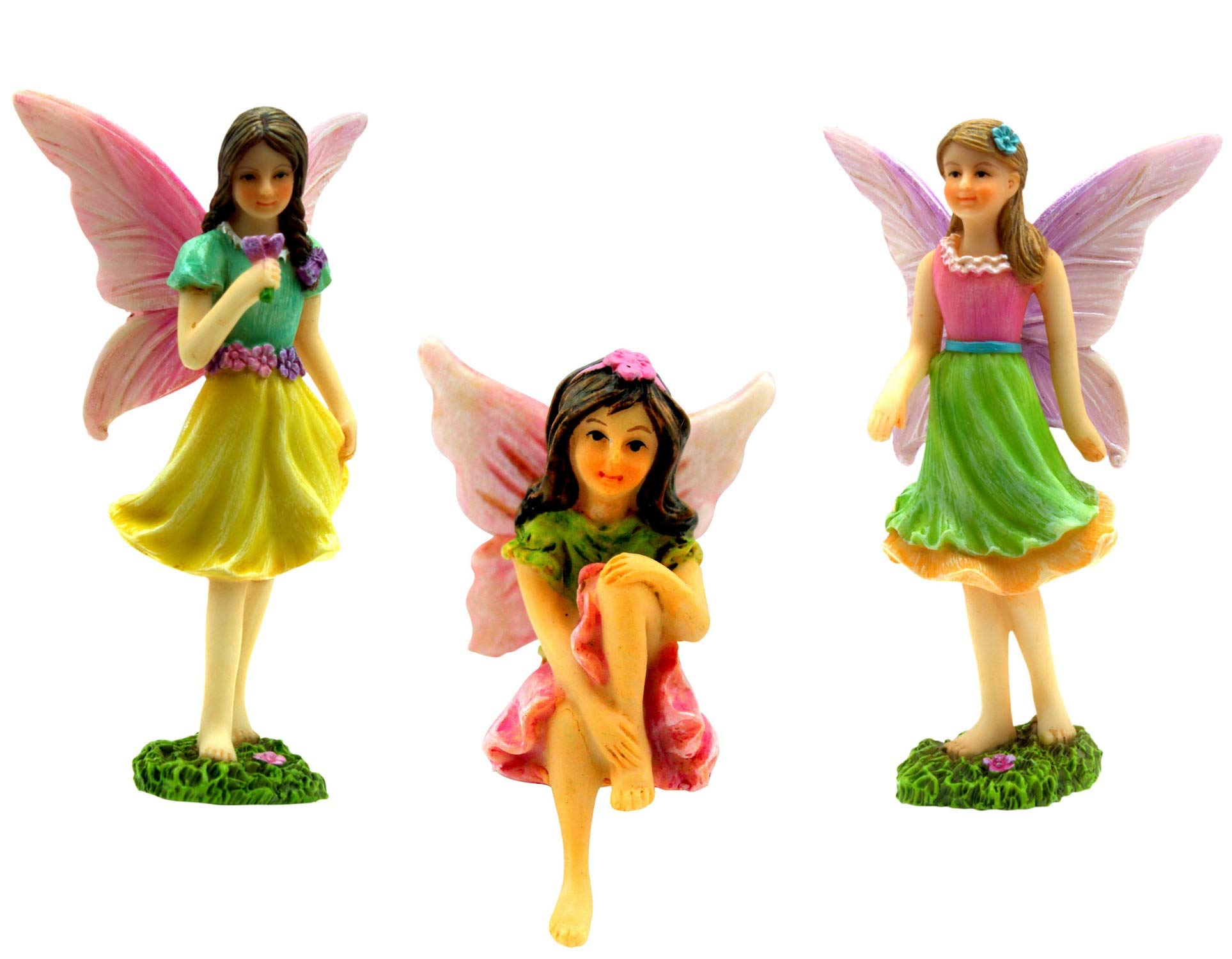 Pretmanns Fairy Garden Accessories Miniature Fairy Figurines Ornaments For Fairy Garden 3 Pieces Buy Online In El Salvador At Elsalvador Desertcart Com Productid 49888361
