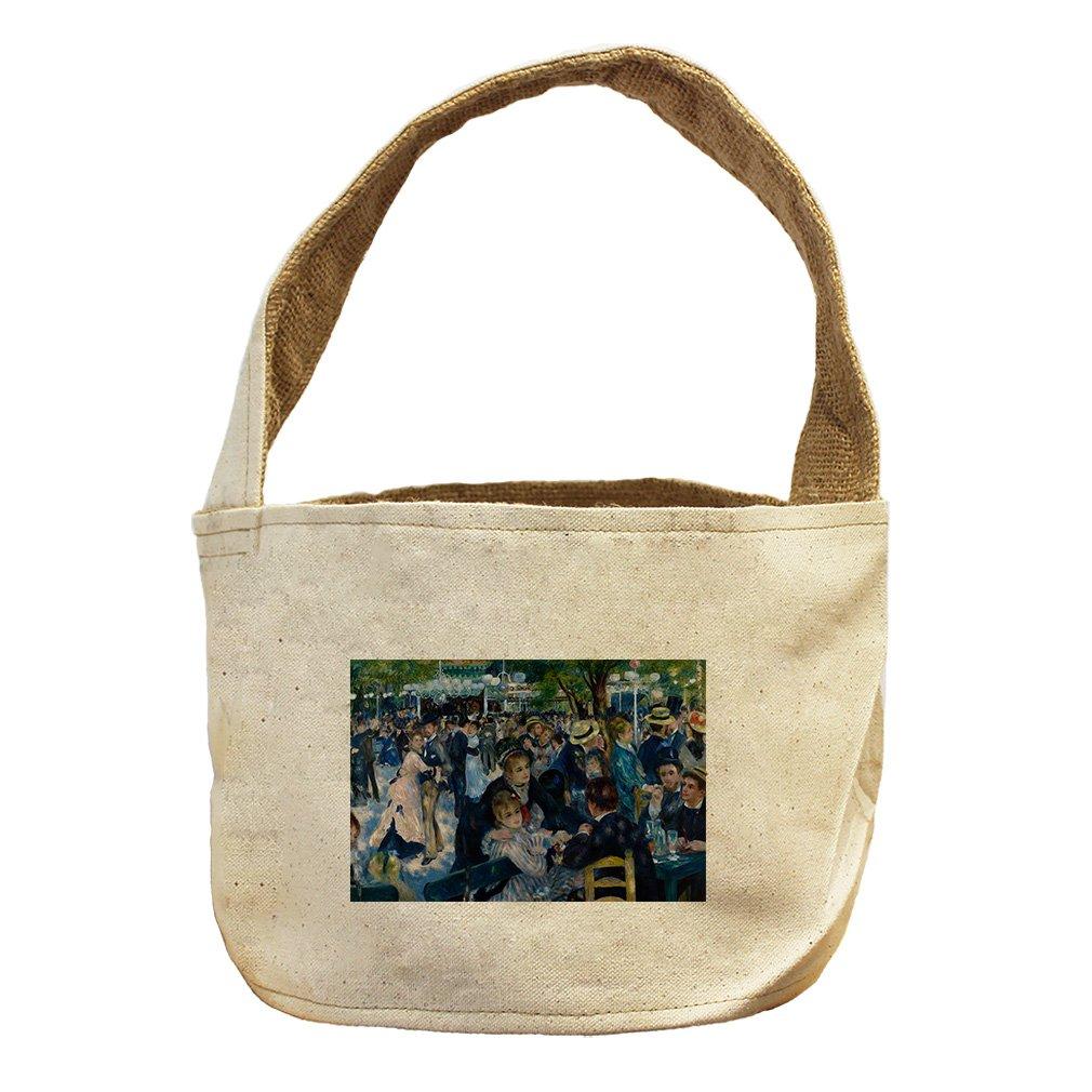 Style in Print Dance At Moulin De La Galette (Renoir) Canvas and Burlap Storage Basket