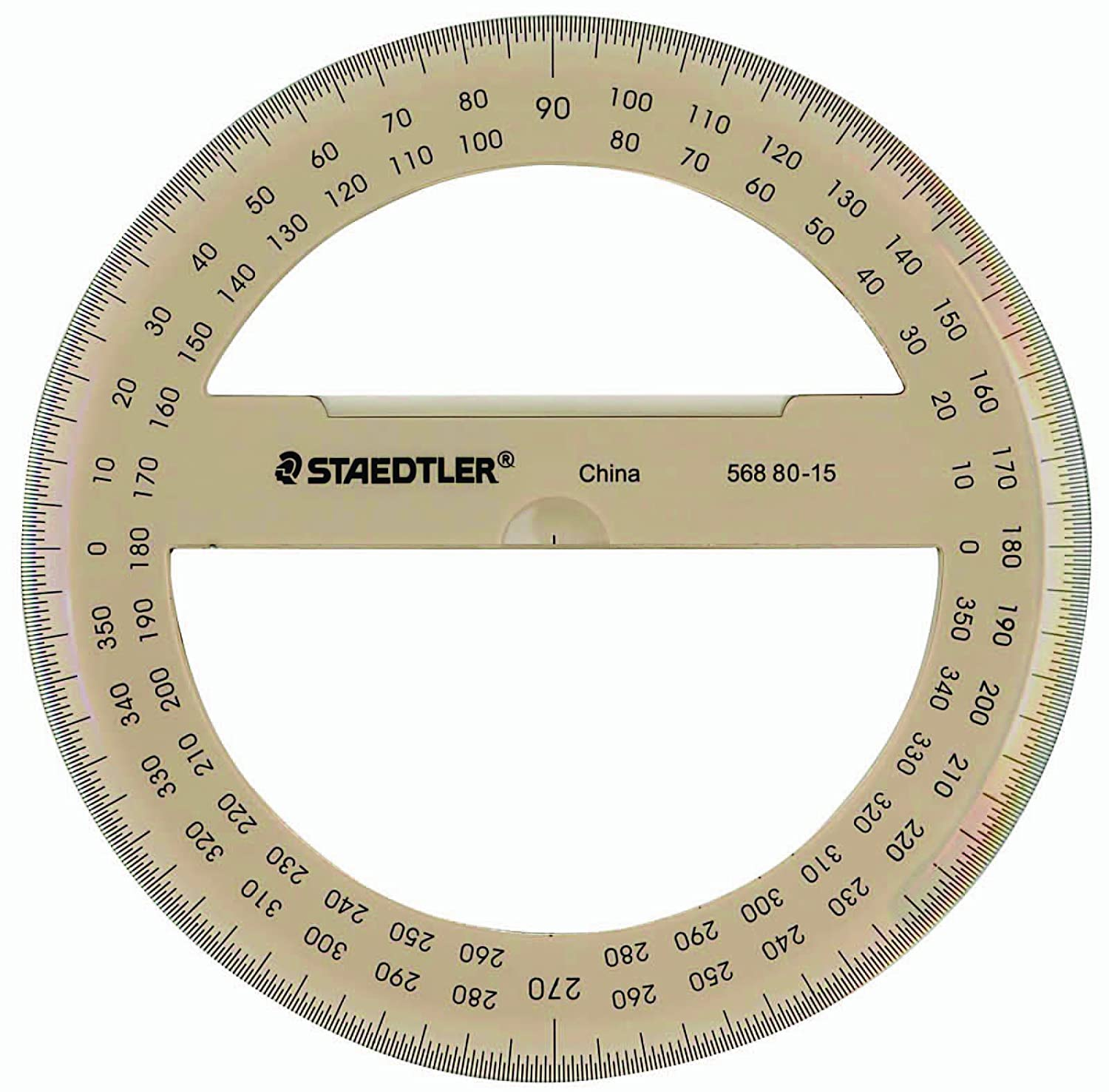 worksheet Protractor Image amazon com staedtler protractor 6 360 degrees 56880 15bk educational and hobby protractors office products