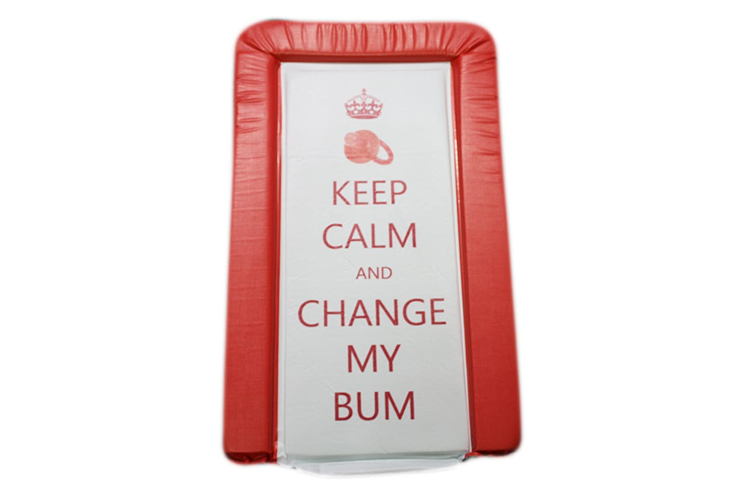 Matelas Tapis A Langer B/éb/é Keep Calm and Change My Bum Rouge Unisexe Luxe Rembourr/é et Imperm/éable