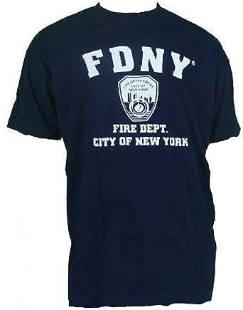 a2e099ac Amazon.com: FDNY Shirt T-Shirt Authentic Clothing Apparel Officially ...