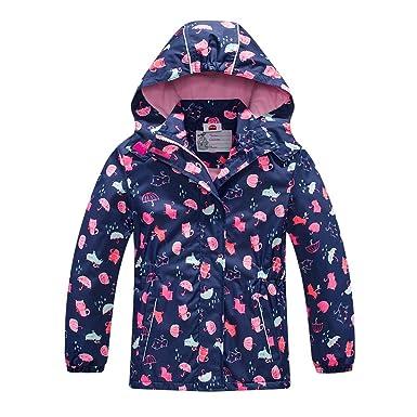 b8785872817 Amazon.com  Girls Rain Jacket - Waterproof Jacket for Girls with ...
