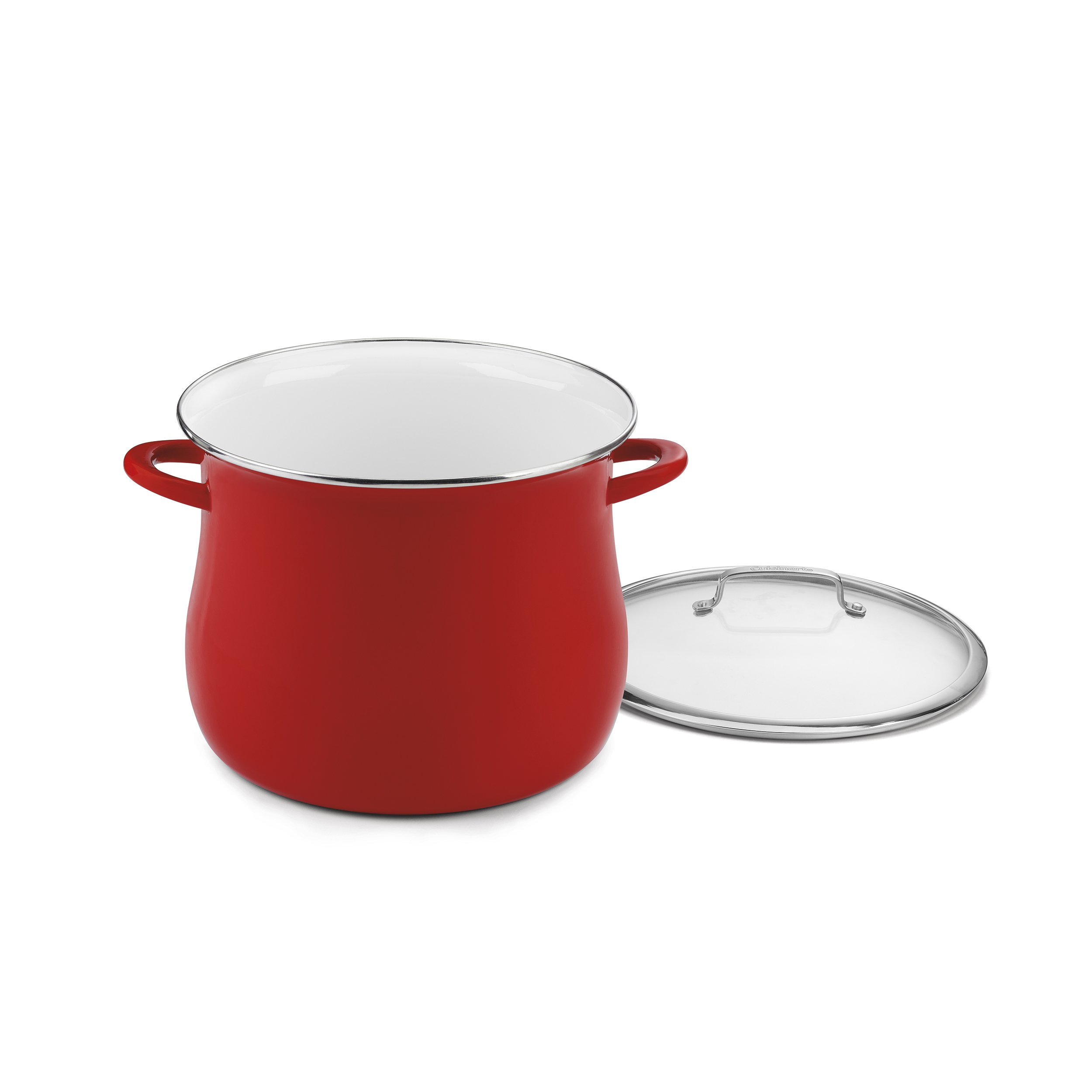 Cuisinart EOSB166-30R Stockpot with Cover, 16 quart, Red