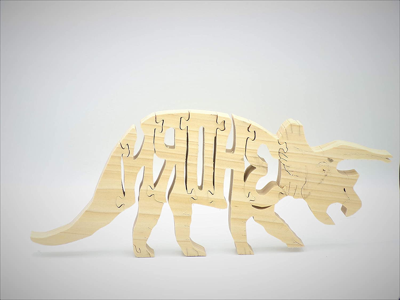 Jigsaw Puzzle Wooden Dinosaur 3 Horn