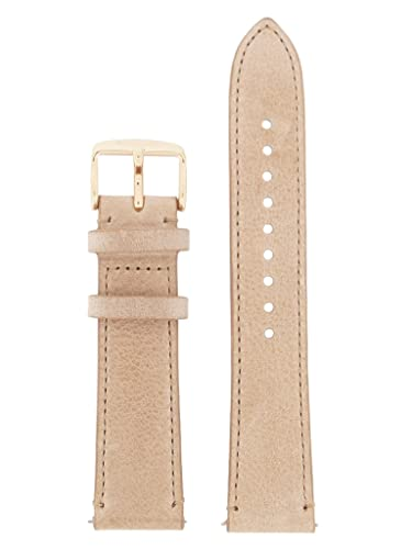 626d54409de64 Fossil Watch Strap Quick Release L AM4532 Original Replacement Band AM TAG  20 mm Leather Watch strap beige: Amazon.co.uk: Watches