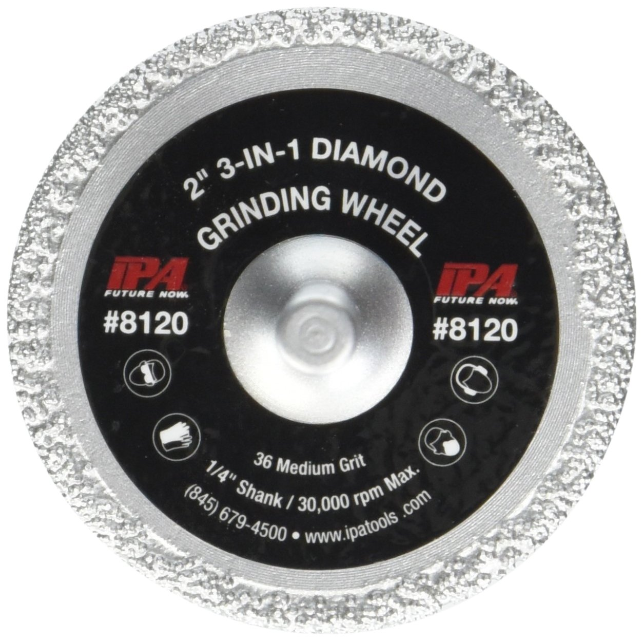 Innovative Products of America 8120 3-in-1 Diamond Grinding Wheel, 2'' L 2'' L