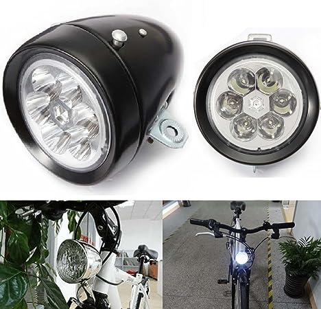 Retro Bicycle Bike Accessory Front Light Bracket Vintage 7LED Cycling Headlight
