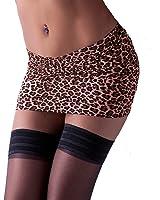 CS83 Leopard Animal Print Fantasystore Lycra Micro Mini 9-10 Inch length) Skirt Bodycon Pull-on (Sizes 4 - 18)