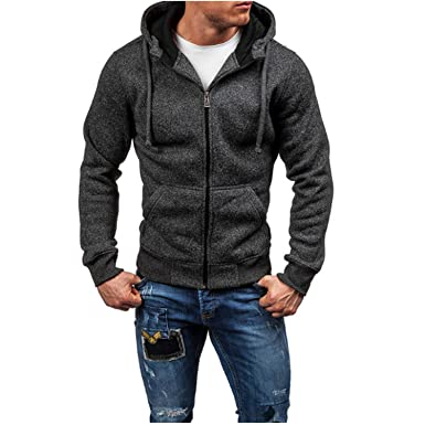 Beautifullight Cool Men Hoodies New Sudaderas Hombre Hip Hop Mens Solid Zipper Hoodie Sweatshirt Slim Fit