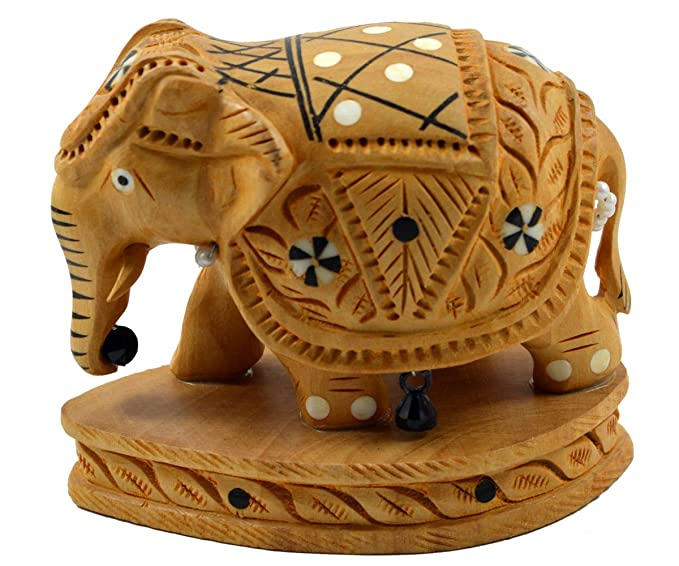 Amazon Com Royal Handicrafts Handcrafted Wooden Elephant Clothing