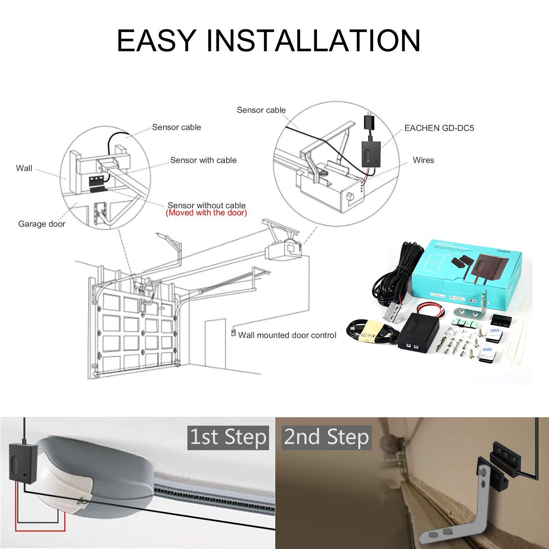 eachen wifi remote control garage door openers inching relay switch (with  ewelink app) - - amazon com