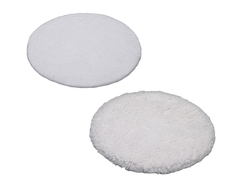 Einhell 2093094 Accesorios para pulidora, Color Blanco Disco de pulir