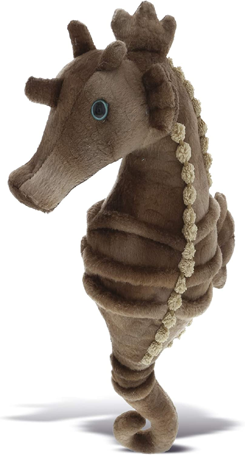 Dollibu Wild Stuffed Animals Soft Plush Collection, Best Storytime Buddy Animal Gifts for Children, Adorable Nursery Zoo Sea Horse Creature Peekaboo Critter Baby Toy for Girls & Boys - Seahorse 12 in.
