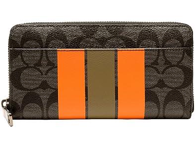 bd298dbad046 Amazon   [コーチ] COACH 財布 (長財布) F75381 チャコール×オレンジ AL0 ...