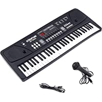 Amitasha 61 Keys Piano with DC Output, Mobile Charging, USB and Microphone Included