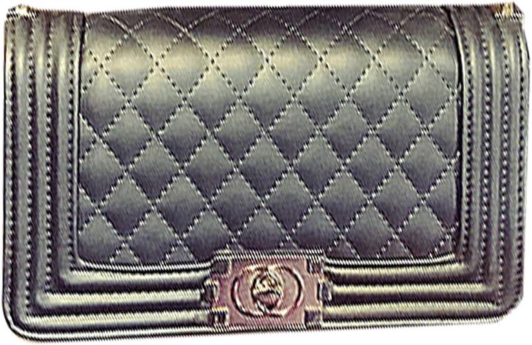 Womens Quilted Chain Bag Pu Leather Shoulder Crossbody handbag Messenger Purse
