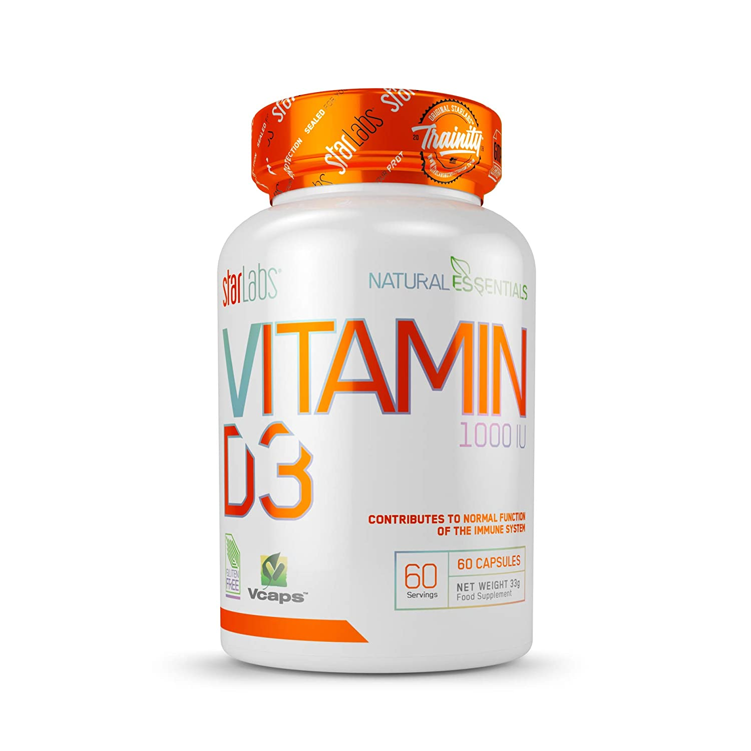 Starlabs Nutrition VITAMIN D3-60 Cápsulas: Amazon.es: Salud y ...