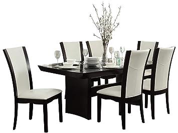 Amazon.com: Denstein - Juego de comedor (7 piezas, mesa de ...