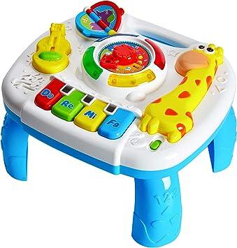 HERSITY Mesa de Actividades Juguetes Musicales Regalos para Bebés Educación Temprana Infantil Juegos para Niños 18 Meses: Amazon.es: Juguetes y juegos