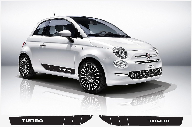 Amazon.com: Fiat 500 Abarth side decal L+R set (black) V.3 TURBO: Automotive
