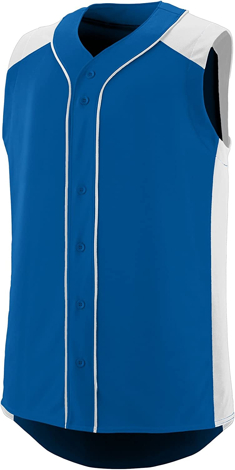 Augusta Sportswear Boys' Sleeveless Slugger Baseball Jersey M Royal/White