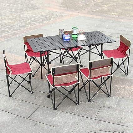 KXBYMX Mesa y Silla de Camping Mesa y sillas Plegables ...