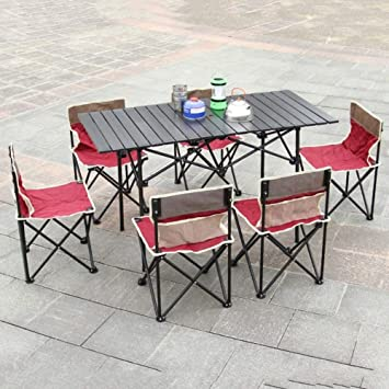 ALFYMX Alf Mesa y Silla de Camping Mesa y sillas Plegables ...